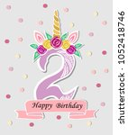 vector illustration with number ...   Shutterstock .eps vector #1052418746
