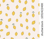 trendy seamless pattern with... | Shutterstock .eps vector #1052422400