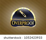 shiny emblem with cutter i... | Shutterstock .eps vector #1052423933