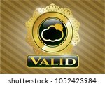 golden emblem or badge with... | Shutterstock .eps vector #1052423984