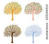 four seasons  spring  summer ... | Shutterstock .eps vector #105244313