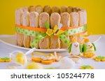easter tiramisu. | Shutterstock . vector #105244778