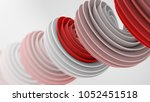 red white twisted spiral shape. ... | Shutterstock . vector #1052451518