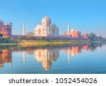taj mahal at sunset   agra ... | Shutterstock . vector #1052454026