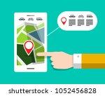 gps navigation   city map on... | Shutterstock .eps vector #1052456828