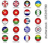 world flags in footballs pack 1 | Shutterstock .eps vector #105245780
