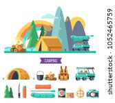 camping. vector illustration....   Shutterstock .eps vector #1052465759