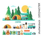 camping. vector illustration....   Shutterstock .eps vector #1052465789