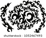 abstract background black and... | Shutterstock .eps vector #1052467493