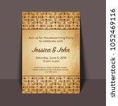 housewarming party invitation...   Shutterstock .eps vector #1052469116