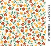 seamless abstract floral pattern | Shutterstock .eps vector #105247388