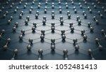 graphene molecular grid ... | Shutterstock . vector #1052481413
