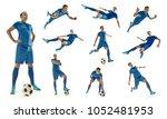 professional man   football... | Shutterstock . vector #1052481953