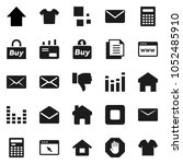 flat vector icon set  ... | Shutterstock .eps vector #1052485910