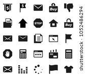 flat vector icon set  ... | Shutterstock .eps vector #1052486294