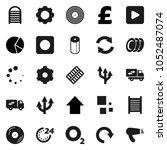 flat vector icon set  ... | Shutterstock .eps vector #1052487074