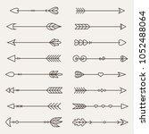 a set of arrow icons. vector... | Shutterstock .eps vector #1052488064