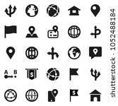 flat vector icon set   world... | Shutterstock .eps vector #1052488184