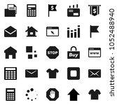 flat vector icon set  ... | Shutterstock .eps vector #1052488940