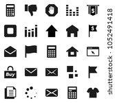 flat vector icon set  ... | Shutterstock .eps vector #1052491418