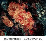 abstract retro grunge... | Shutterstock . vector #1052493410