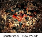 abstract retro grunge... | Shutterstock . vector #1052493434