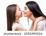portrait of happy mother and... | Shutterstock . vector #1052494316