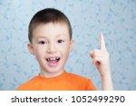 idea concept adorable boy... | Shutterstock . vector #1052499290