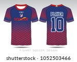 uniform football design. red... | Shutterstock .eps vector #1052503466