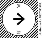 arrow next icon | Shutterstock .eps vector #1052503520