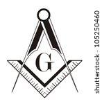black and white freemason... | Shutterstock . vector #105250460