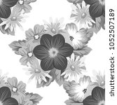 abstract seamless floral... | Shutterstock .eps vector #1052507189
