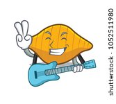 with guitar conchiglie pasta... | Shutterstock .eps vector #1052511980