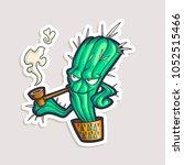 vector cartoon teen sticker... | Shutterstock .eps vector #1052515466