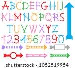 colorful arrow designs. | Shutterstock .eps vector #1052519954
