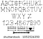 black arrow alphabet. | Shutterstock .eps vector #1052526350