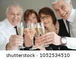 group of senior people cheering ...   Shutterstock . vector #1052534510