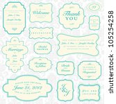 vector ornate frame set. easy... | Shutterstock .eps vector #105254258