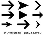 black straight arrows. next... | Shutterstock .eps vector #1052552960