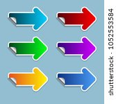 the color arrow set on the... | Shutterstock .eps vector #1052553584