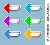 the arrow set on the left... | Shutterstock .eps vector #1052553596