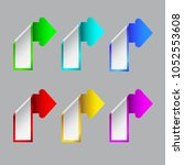 the color arrows of the grey... | Shutterstock .eps vector #1052553608