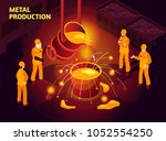 metal production isometric... | Shutterstock .eps vector #1052554250