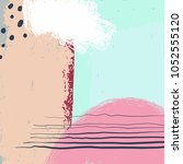 abstract artwork  vector... | Shutterstock .eps vector #1052555120