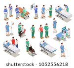 hospital staff  doctors and... | Shutterstock .eps vector #1052556218