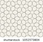 seamless linear pattern with... | Shutterstock .eps vector #1052573804