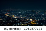night view shot at view point | Shutterstock . vector #1052577173