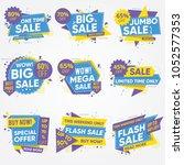 set of sale adverts | Shutterstock .eps vector #1052577353