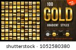 collection from 100 vector gold ... | Shutterstock .eps vector #1052580380