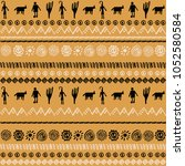 pattern design with tribal... | Shutterstock .eps vector #1052580584